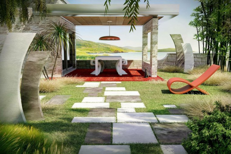 Deco garden design 48 modern gardens for inspiration for Decoration jardin contemporain