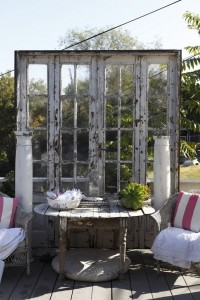 Decorate garden with recycling old doors18