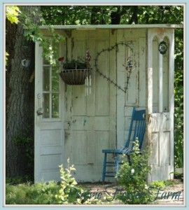 Decorate garden with recycling old doors4