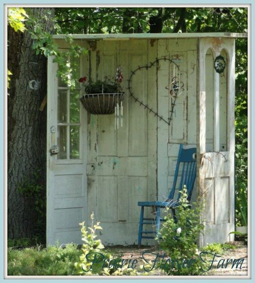 20 Recycling Ideas For Home Decor: Decorate Garden With Recycling Old Doors - 20 Creative Ideas