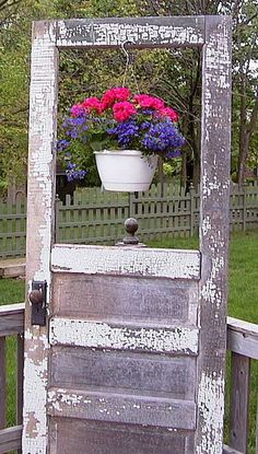 Decorate garden with recycling old doors6
