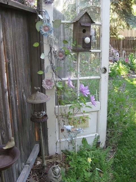Decorate garden with recycling old doors7