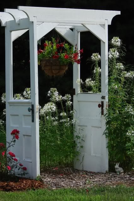 Decorate garden with recycling old doors8