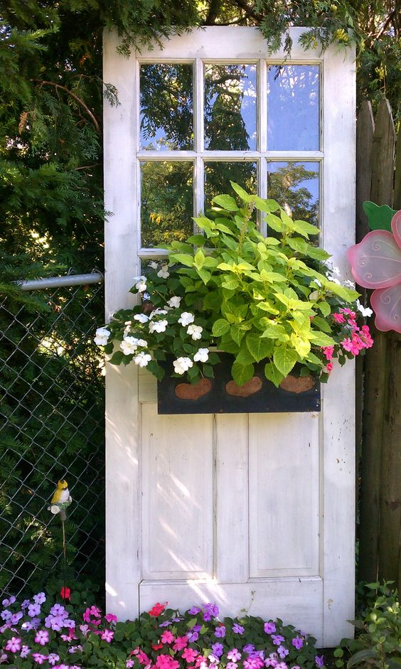 Decorate garden with recycling old doors9