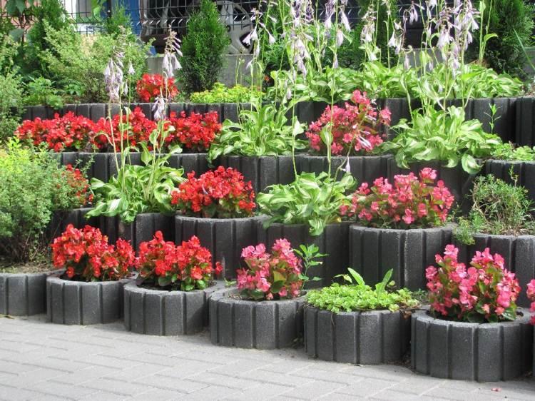 Concrete garden jardinières (2)