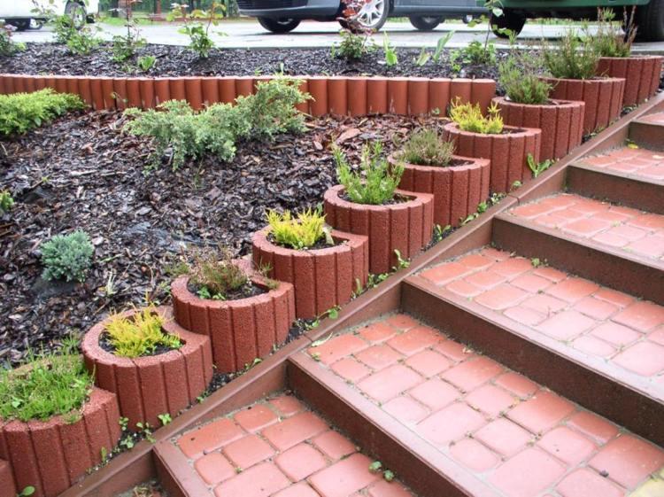 Concrete garden jardinières (5)