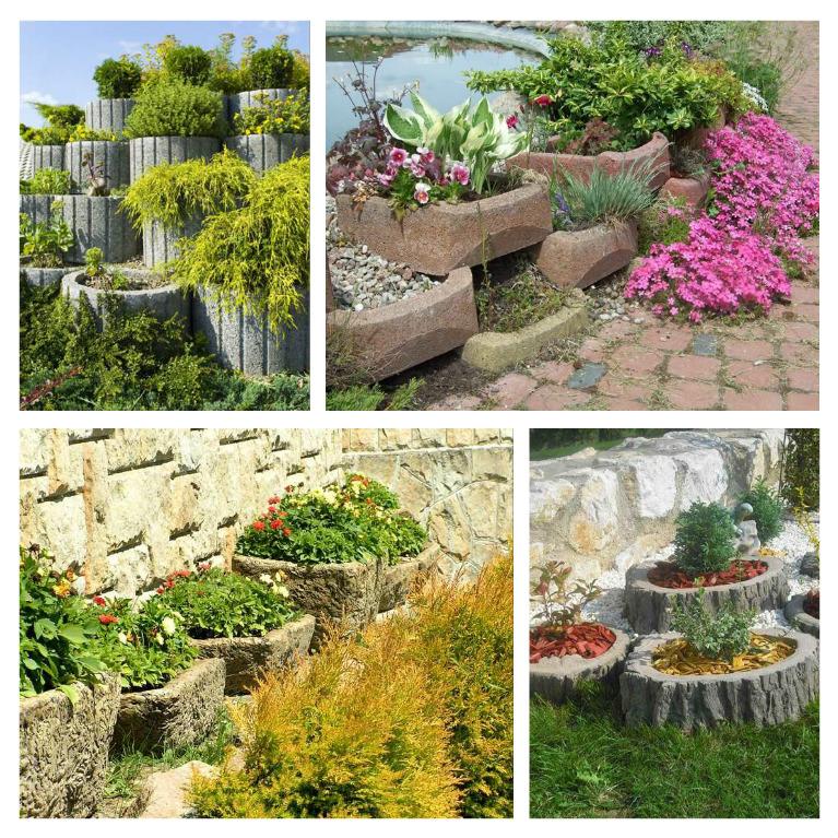 Concrete garden jardinières