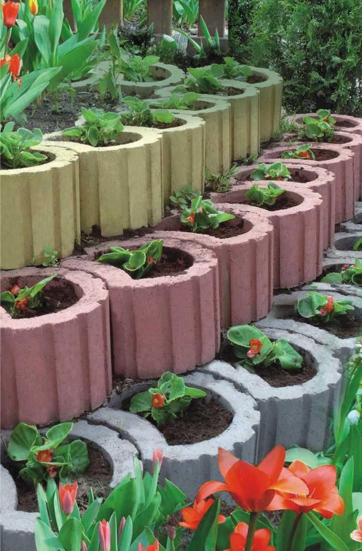 Concrete garden jardinières (13)