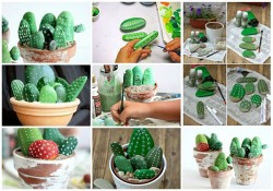 Diy Cactus from stones2
