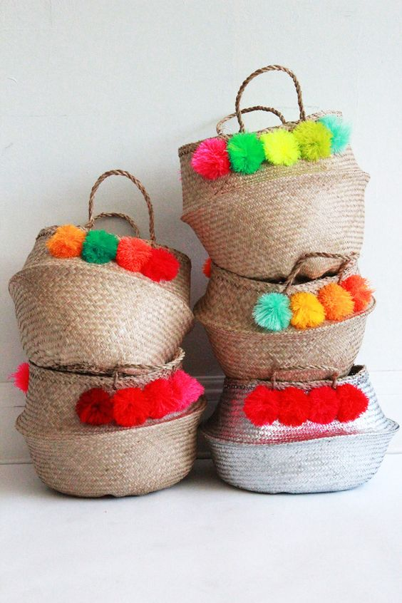 Summer Baskets decoration ideas16