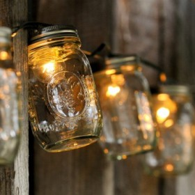 decorate you terrace with glass jars1
