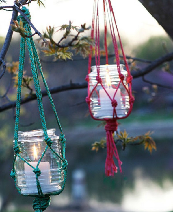 decorate you terrace with glass jars2