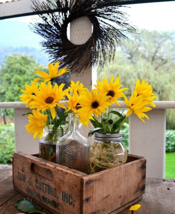 decorate you terrace with glass jars4