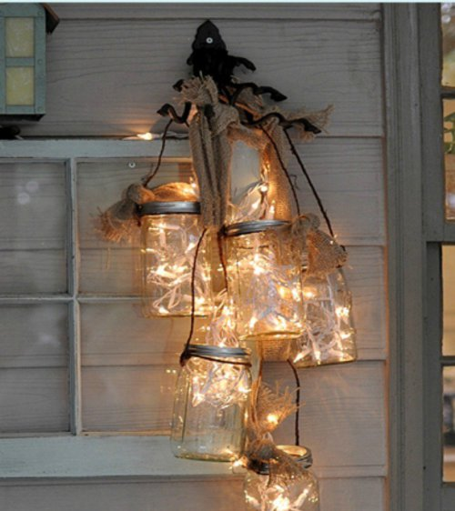 decorate you terrace with glass jars5