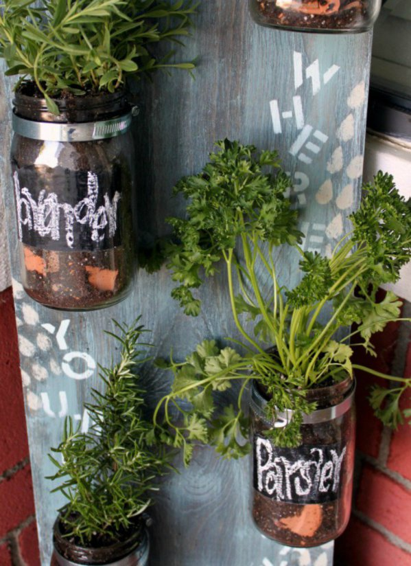 decorate you terrace with glass jars6