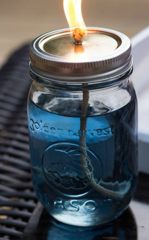 decorate you terrace with glass jars8