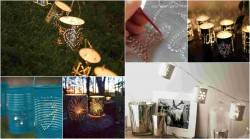 diy lanterns from metal cans