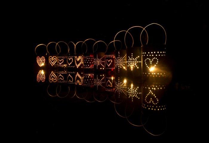 diy lanterns from metal cans1