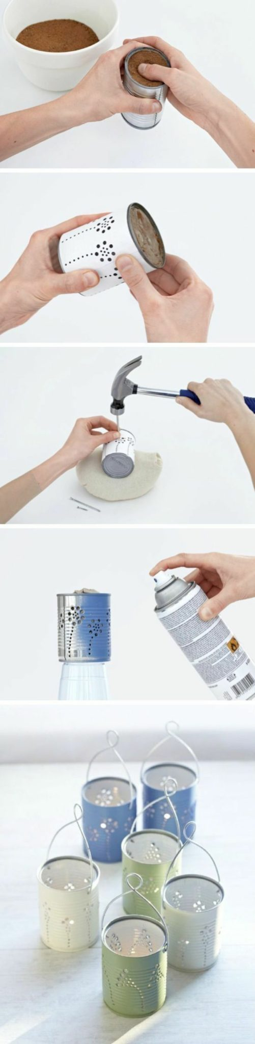 diy lanterns from metal cans11