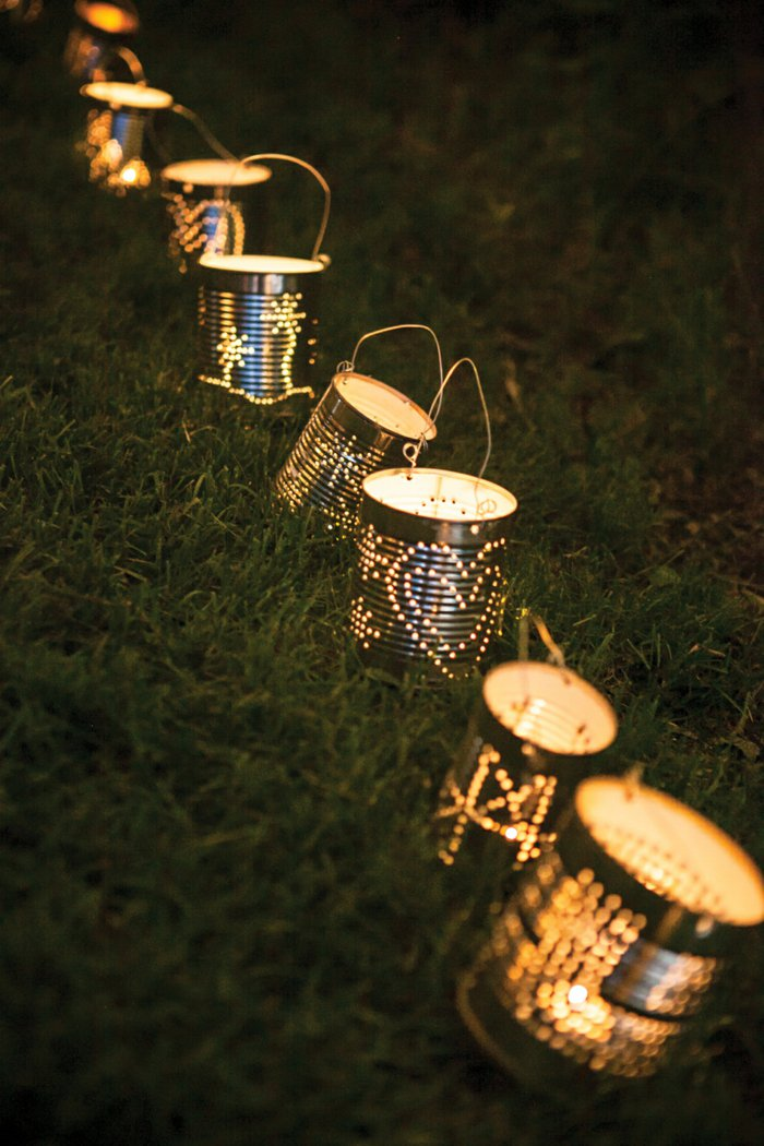 diy lanterns from metal cans5