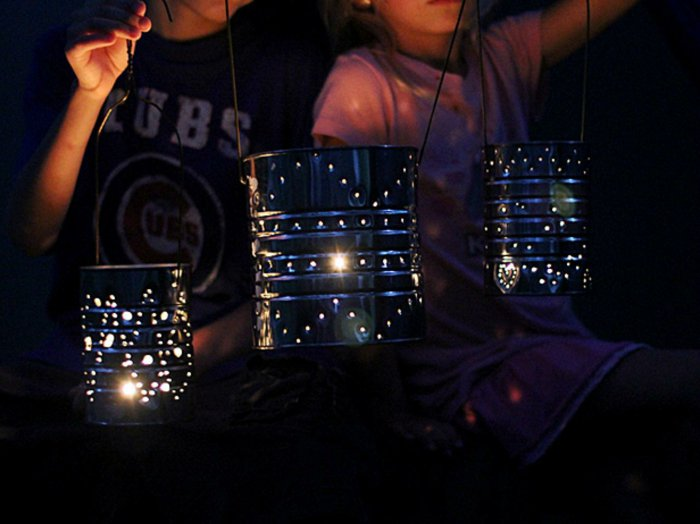 diy lanterns from metal cans8