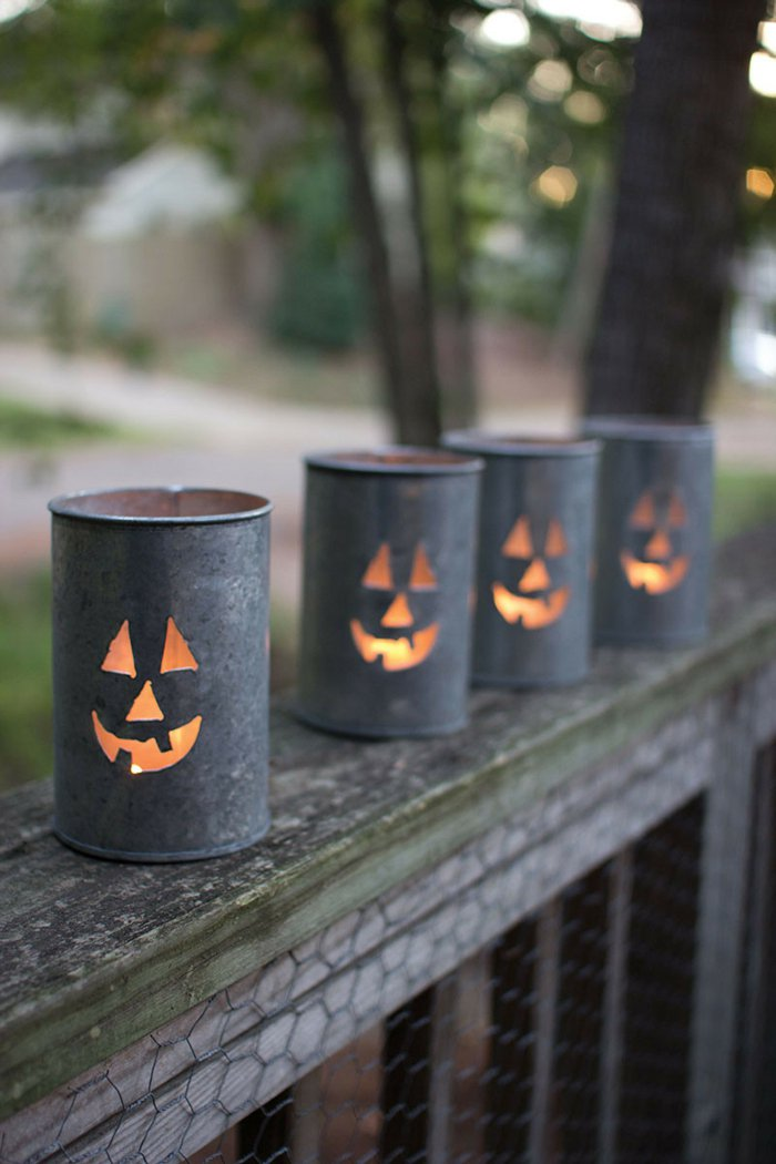 diy lanterns from metal cans9