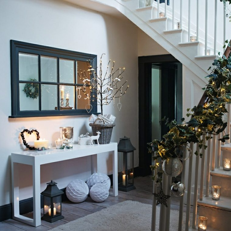 christmas house entrance decoration for a festive home my desired home. Black Bedroom Furniture Sets. Home Design Ideas