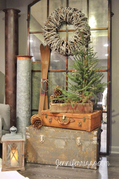 Best rustic pinterest decorations for christmas holidays for Christmas home decorations pinterest