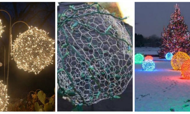 Great outdoor diy giant light balls for christmas mozeypictures Image collections