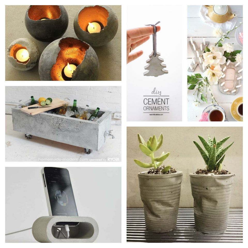 30+ DIY decorative ideas with cement