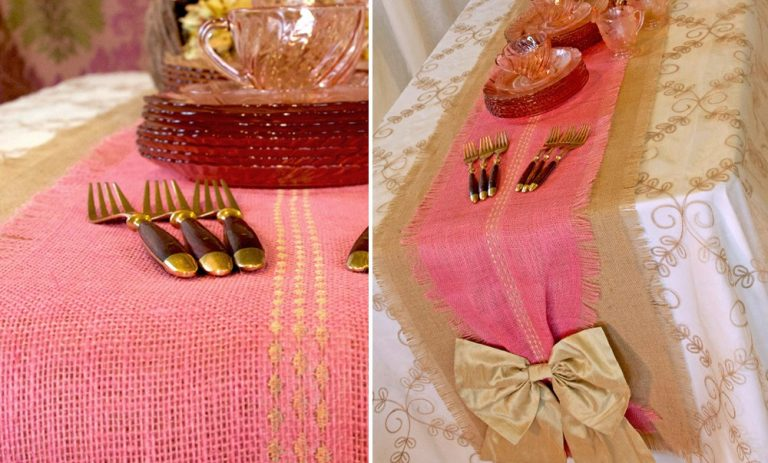 Burlap Table Runner ideas (15)
