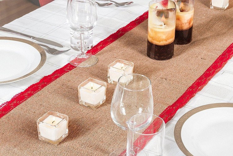 Burlap Table Runner ideas (16)