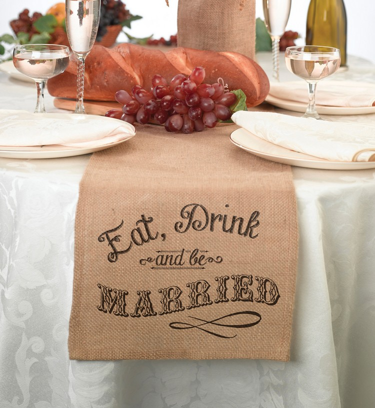 Burlap Table Runner ideas (19)