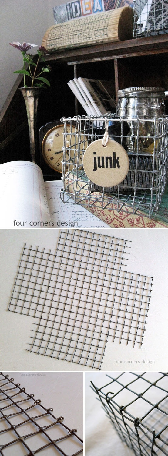 With wire mesh you can decorate very nicely - 14 very original DIY ...