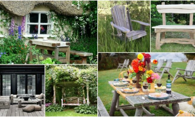Rustic Garden Furniture For Charm And A Natural Look