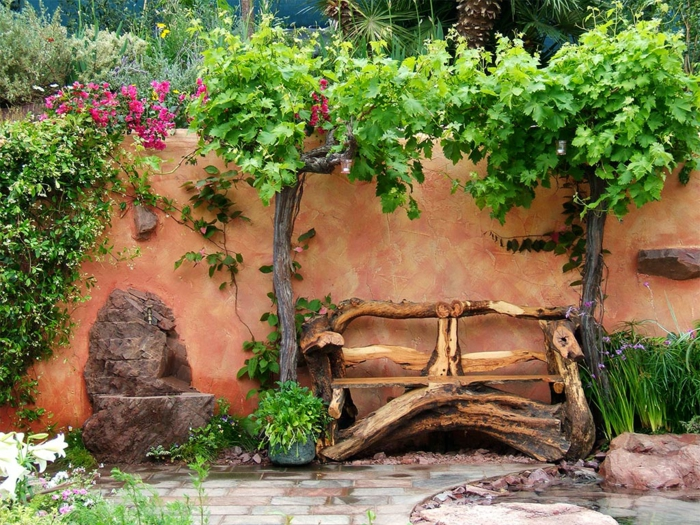 Rustic garden furniture1