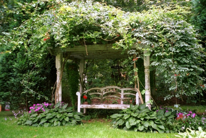 Rustic Garden Furniture For Charm And A Natural Look | My Desired Home Holz Pergola Rutikal Garten