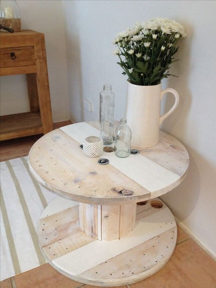 coffee table from wire spools (11)