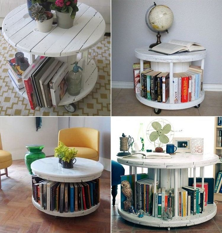 coffee table from wire spools (12)