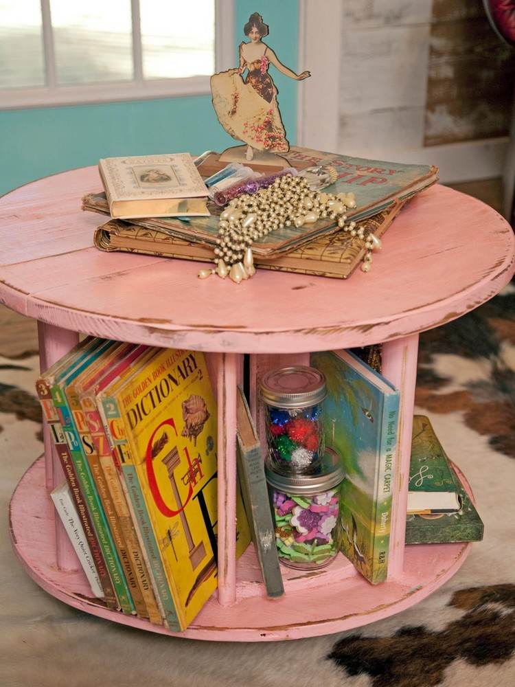 coffee table from wire spools (16)