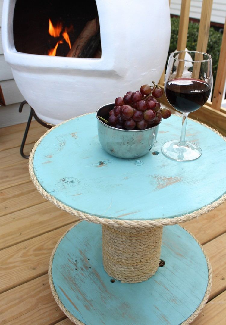 coffee table from wire spools (19)