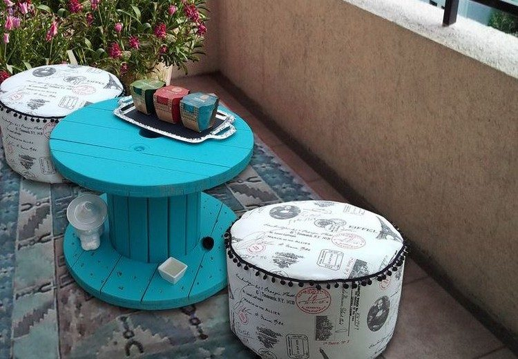 coffee table from wire spools (20)