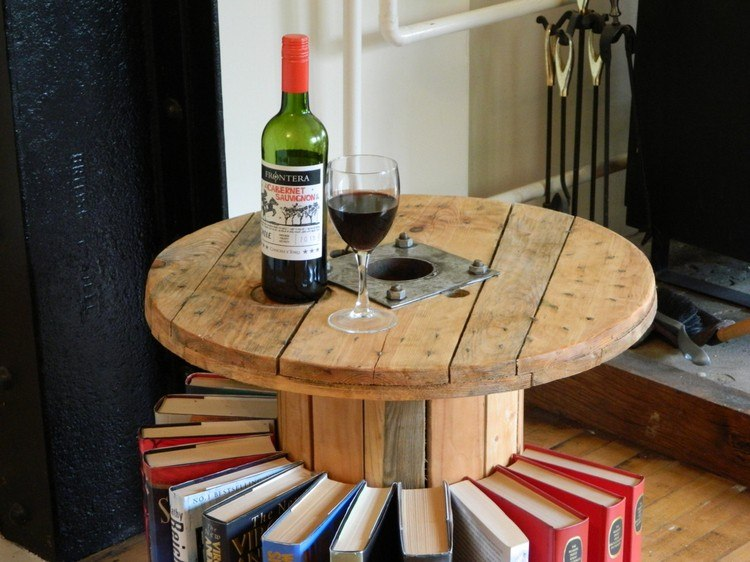 coffee table from wire spools (9)