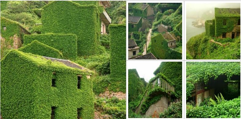 An abandoned village in China