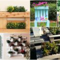 Pallet wooden planter ideas