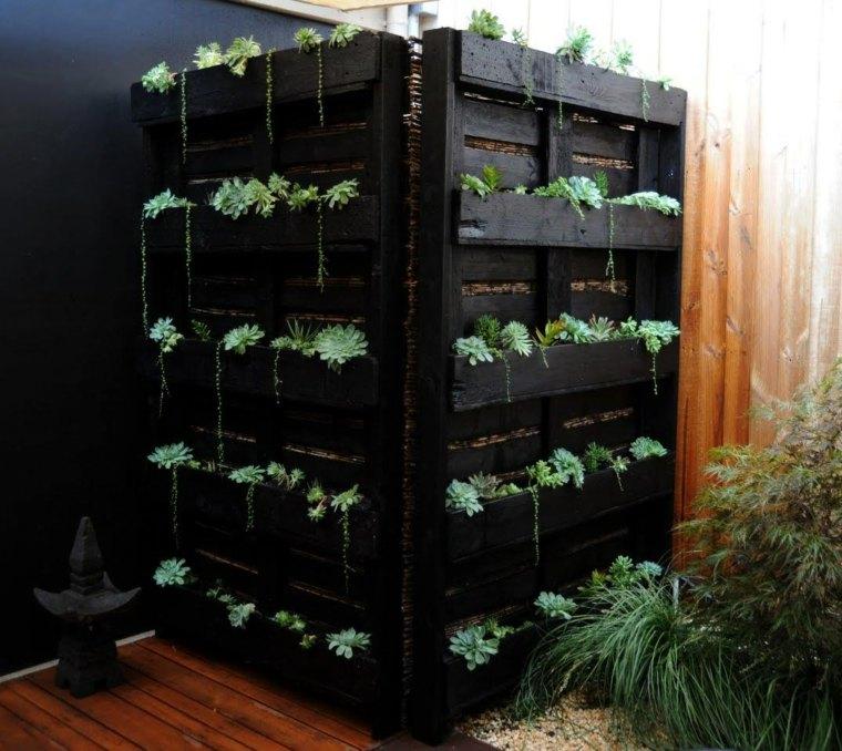 Pallet wooden planter ideas12