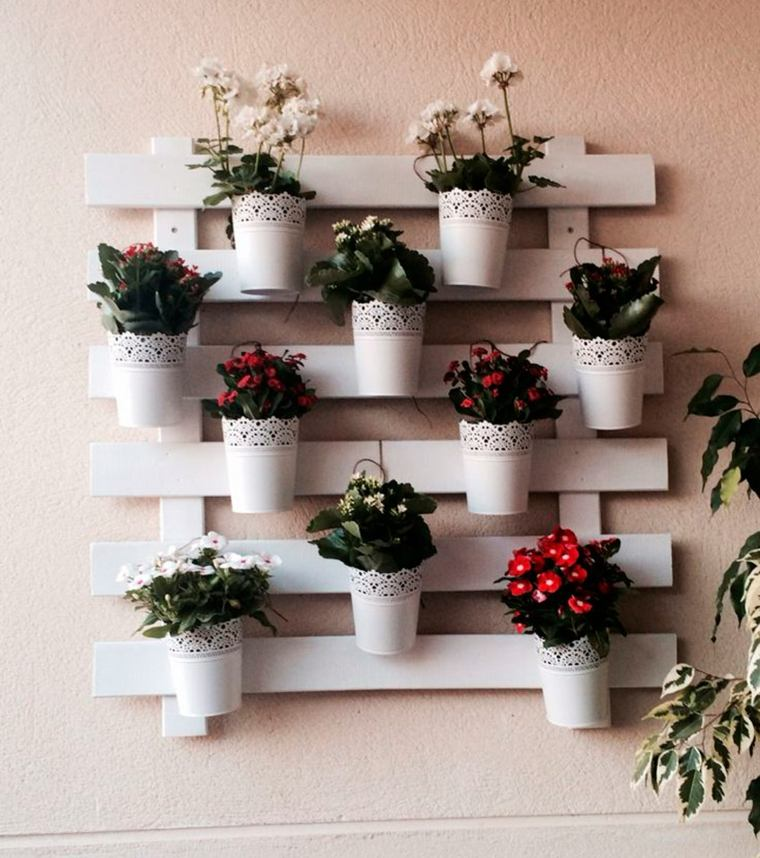 Pallet wooden planter ideas13