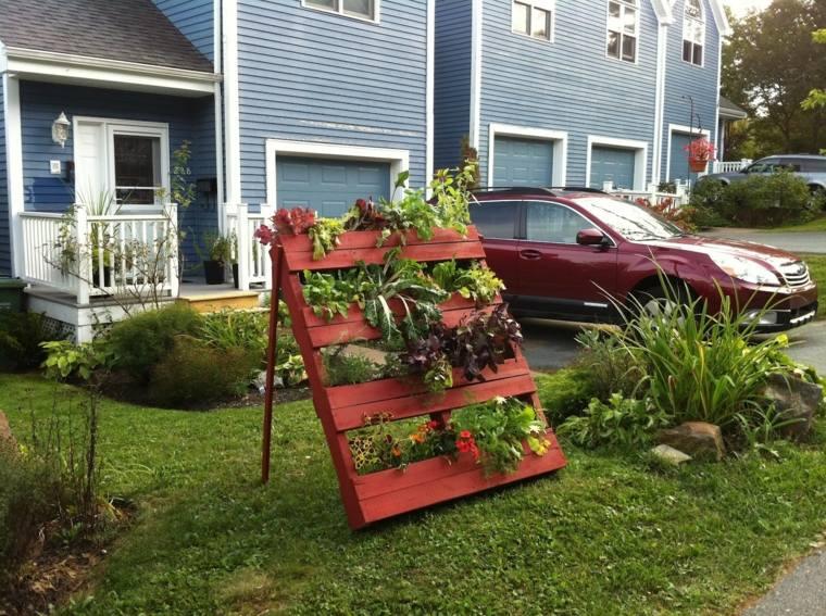 Pallet wooden planter ideas16
