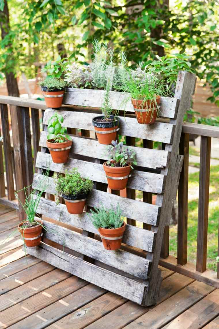 Pallet wooden planter ideas17