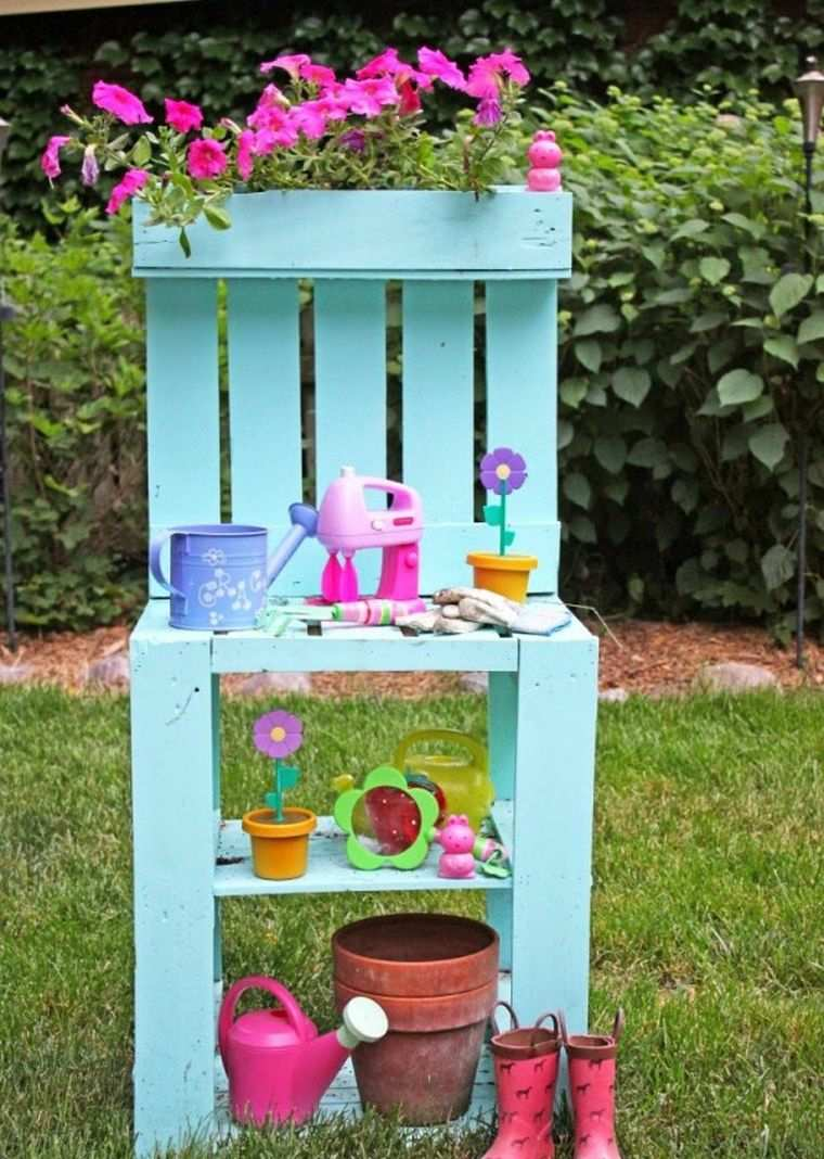 Pallet wooden planter ideas18